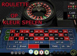 Roulette op kleur spelen