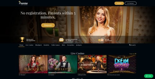 rouletteonlinespelen.nl casino review Premier live Casino homepage screenshot